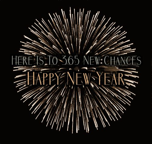 Here Is To 365 New Chances in 2017 Happy New Year GIF - Happy New Year!